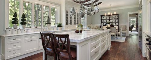 Cave Creek white luxury home kitchen